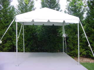 10 X 10 Frame Tent (Installed)