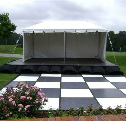 16' X 16' Black & White Dance Floor
