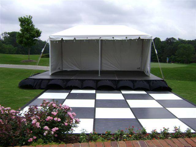 16' X 16' Black & White Dance Floor